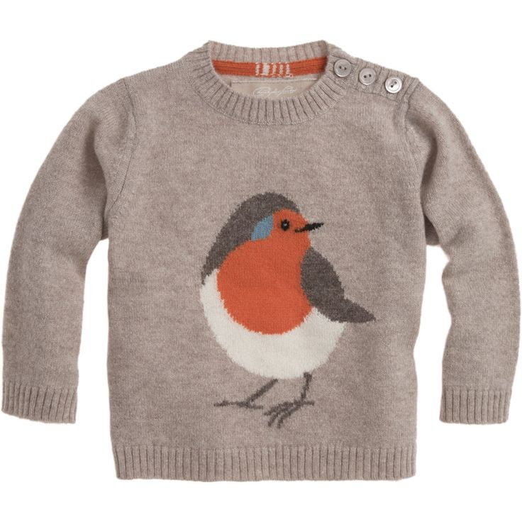 CHRISTOPHER FISCHER Robin Sweater: Robins Sweaters, Crewneck Sweaters, For Kids, Little Birds, Kids Fashion, Children Clothing, Kids Clothing, Fischer Robins, Christopher Fischer