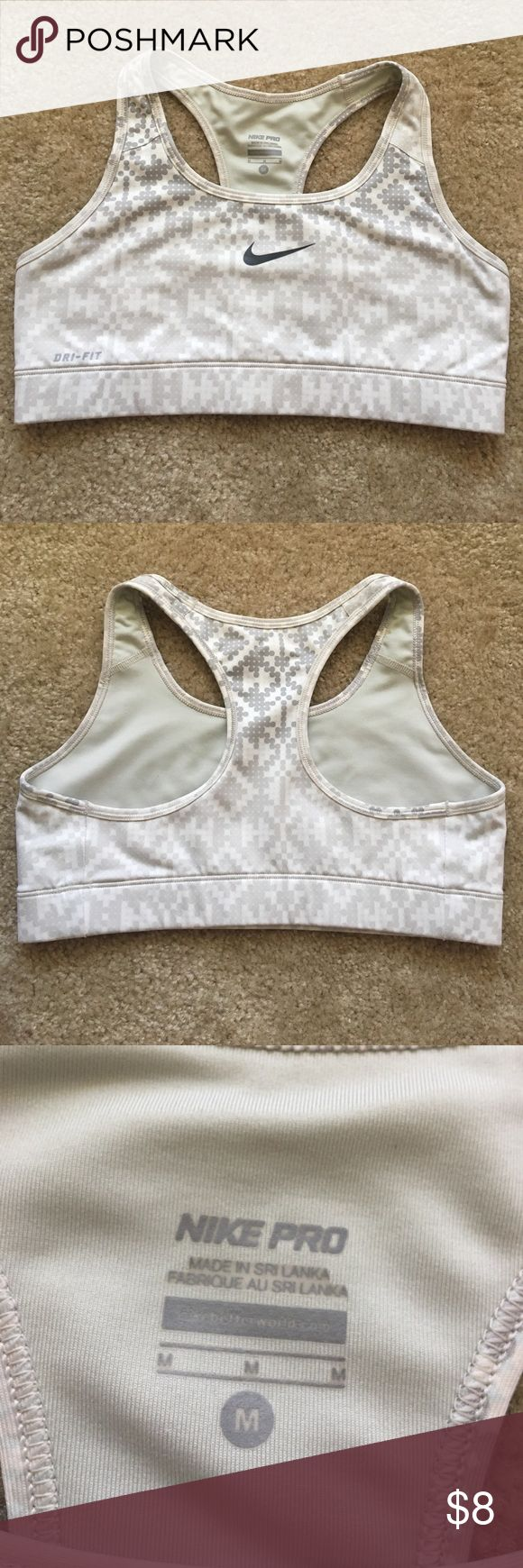 Nike Sports Bra Light gray/cream sports bra in good condition. Nike Intimates & Sleepwear Bras