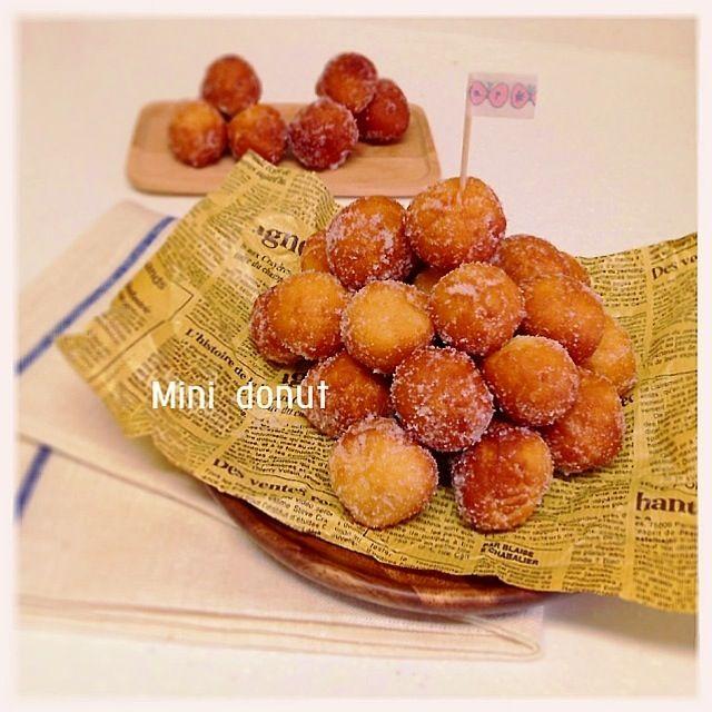 ヴァン's dish photo HMとプレーンヨーグルトで簡単ミニドーナツ レシピあり | http://snapdish.co #SnapDish #レシピ