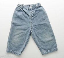 Pantalon jean denim fin bleu Petit Bateau 12 mois garçons