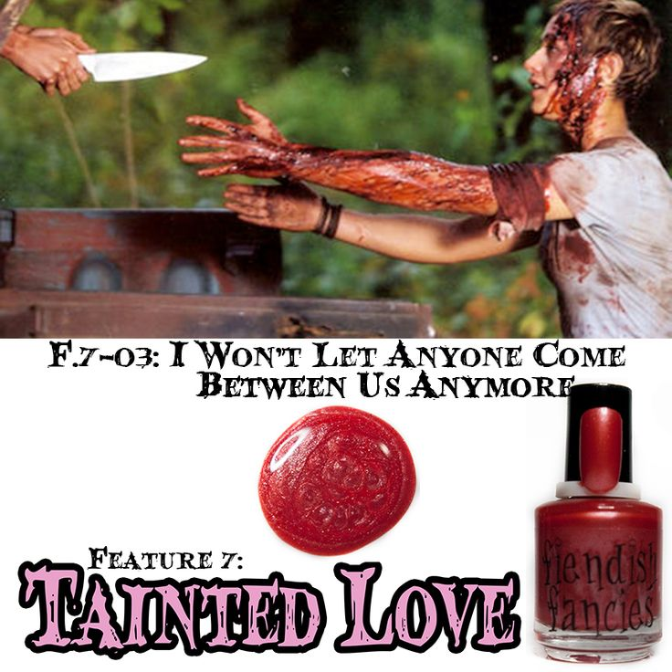F.7-03: I Won't Let Anyone Come Between Us Anymore  Frosted Carnation Red inspired by the relentless pursuit of repressed love. Opaque in 2 coats.: The Tainted Love Collection ~ Inspired by movies about obsession and love gone wrong. Coming February 2016