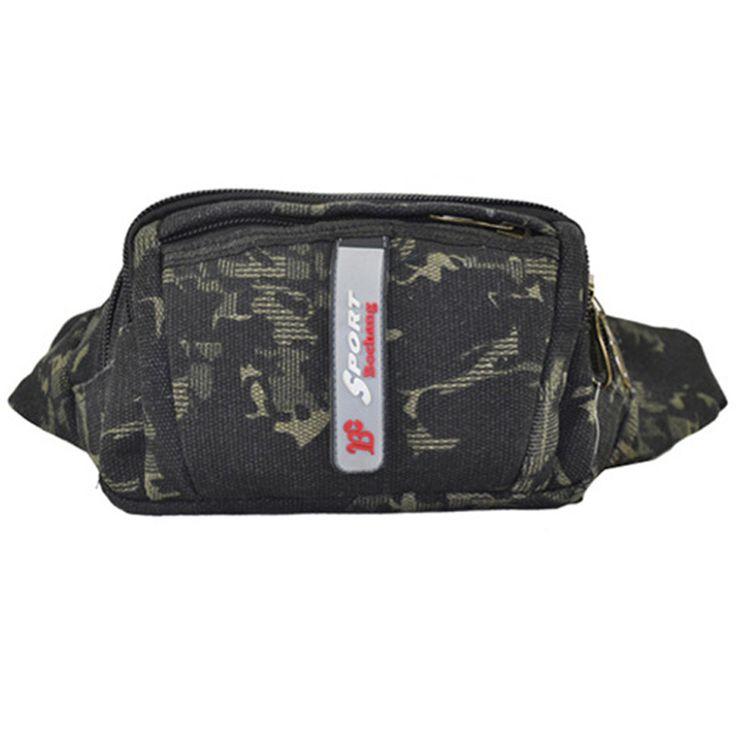 Men Waist Pack Fanny Pack Bum Bag Man Pouch for Travel Cash Card Pochete Bolso Cintura Homme Borsa  #Affiliate