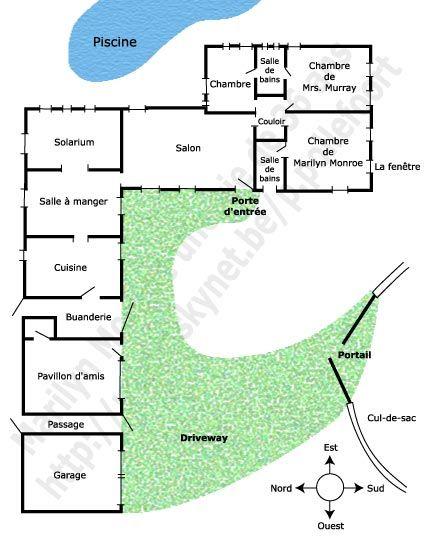 Marilyn monroe 39 s brentwood house plan marilyn monroe une for Brentwood house plan