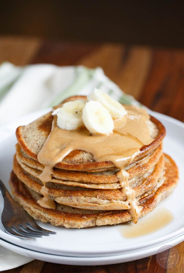 Paleo cashew butter pancakes for two are perfectly portioned for two. They make the best weekend brunch item or a quick weekday breakfast!