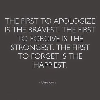 I apologized when I shouldn't have. I forgave when I received no apology. Now I have chosen to forget and leave those people behind me.