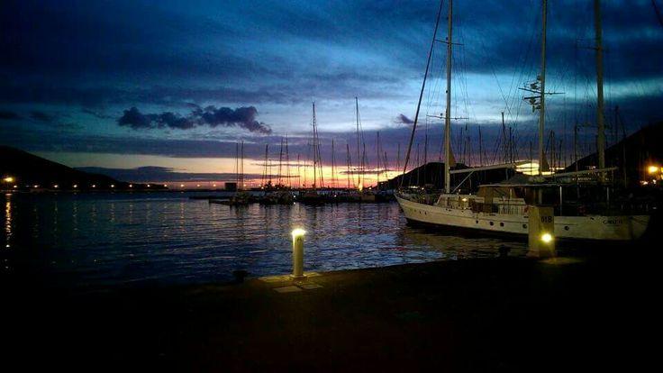 Atardecer en el puerto de Cartagena