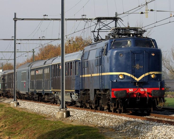 Werkspoor Electric Locomotive in Soest in The Netherlands