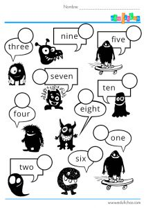 Los números en inglés  #fichas #ingles #actividades  www.edufichas.com