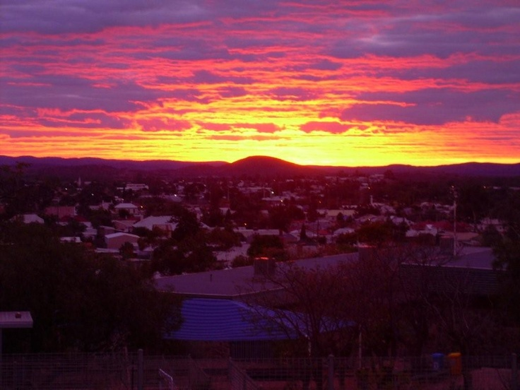 Happy long weekend Australia! What a gorgeous sunset in our very own backyard in Broken Hill, #Australia