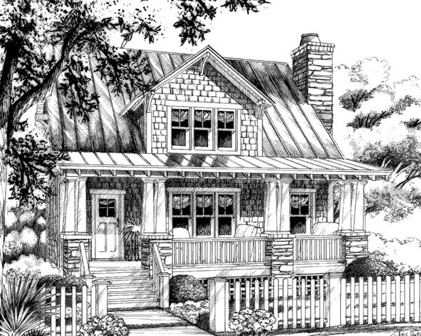 Aberdeen cottage southern living house plans cottages for Southern living house plans with keeping rooms