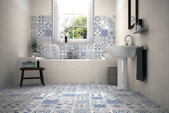 Create a patchwork effect with these 44cm-square Spanish porcelain wall and floor tiles. Called Skyros, they come in several patterns, all in Delft blue and white. £3.29 each; tilemountain.co.uk