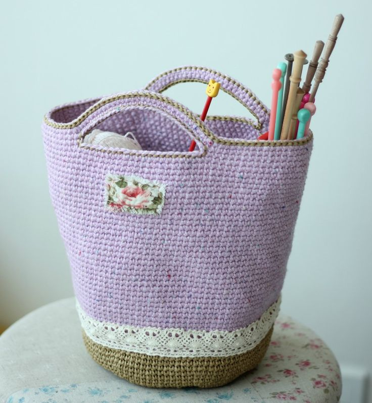 crochet heather bag