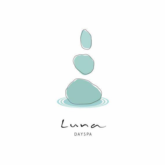 Minimalist Pre-made logo design OOAK modern Zen Pebble Logo