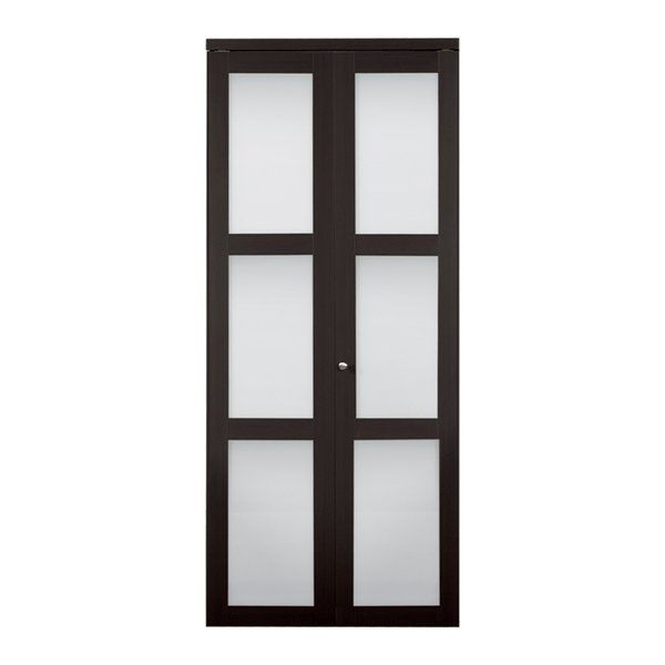 Add Contemporary Charm To Your Home With This Baldarassario Glass Bi Fold Door It Is Available In Multip Bifold Doors Bifold Closet Doors Folding Closet Doors