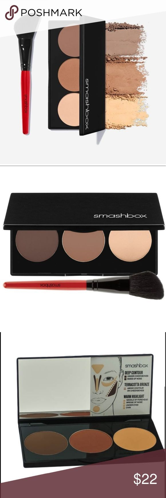 Kit de contorno paso a paso Smashbox Incluye cepillo de contorno Smashbox / BNIB…