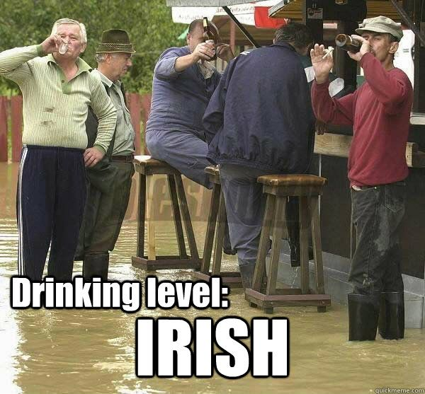 Drinking level Irish memes | quickmeme