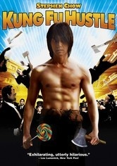 "Kung Fu Hustle (Chinese) - Sing, a low-life hustler is determined to be a bad-ass gangster.  But when Sing and his overweight, unnamed sidekick enter the especially awful slum Pig Sty Alley their ruse doesn't wash with the locals, who are ruled by an iron-fisted, chain-smoking landlady and her drunken husband. Before you can say ""Hi-Yah!"", the slum dwellers are revealed as kung fu masters who've been living in disguise among the poor."