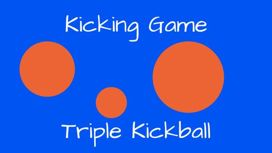 A baseball type game to teach students basic kicking from the ground without the pressure of kicking a moving ball. Learning outcomes: Ball kicking skills Ball placement Teamwork Required Material: 4 hoops 3 balls to kick off the ground Aim of the game: Kick three balls off the ground and run around the bases before … Continue reading Triple Kickball