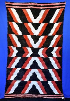 2 - pre 1900 - Navajo Rugs - 3x5 to 5x7 - 'Navajo Transitional blanket' - Len Wood's Indian Territory
