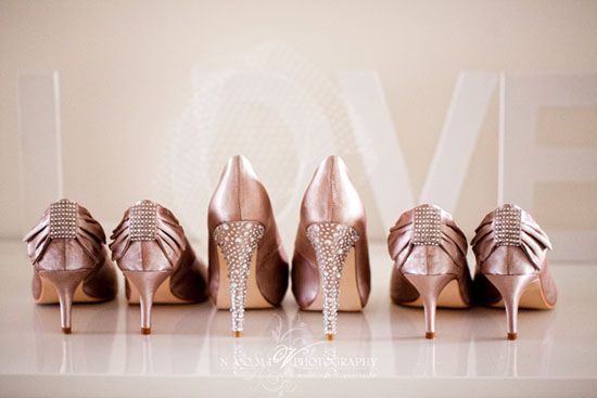 options are endless #bachelorette: Bridesmaid Shoes Pink, Blushes Pink, Wedding Shoes, Pale Pink, Bride And Bridesmaid, Parties Shoes, Pink Shoes, Bridal Shoes, Gold Shoes