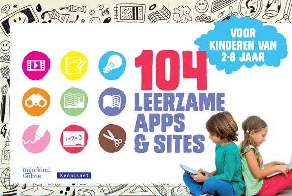 De gids '104 Leerzame apps en sites voor kinderen van 2 tot 8 jaar.' is een antwoord op het toenemend tabletgebruik door jonge kinderen en de wildgroei aan educatieve apps en sites.