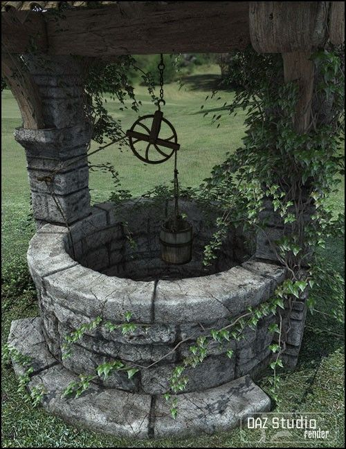 Need to make our old well look not so creepy - plant hummingbird-attractive flowering vines at the base?