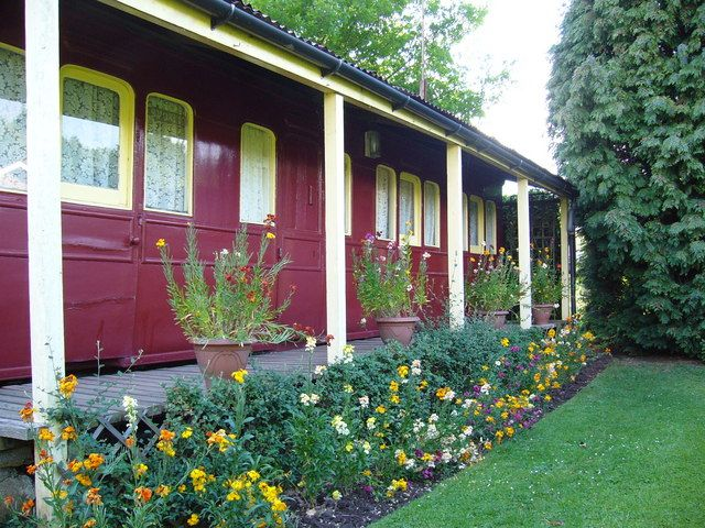 Converted railway carriage