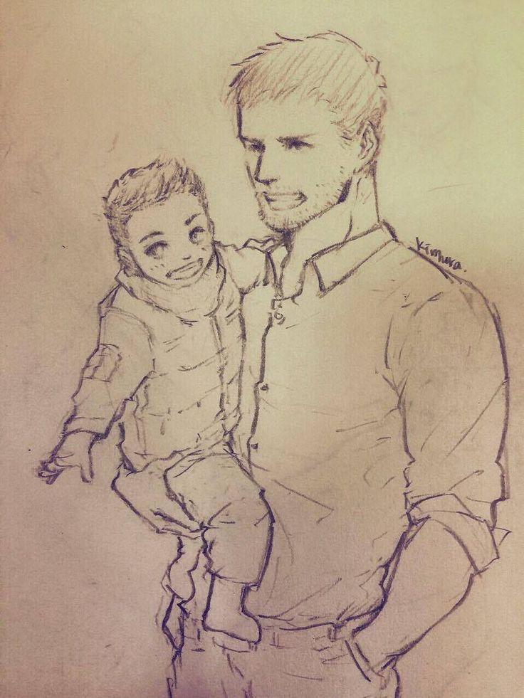 [ Doodle ][ Resident Evil 6 - Chris & Piers <3 ]