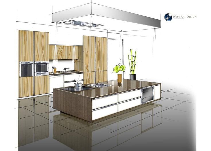 Les 613 meilleures images propos de plans perspectives for Cuisine dessin 3d