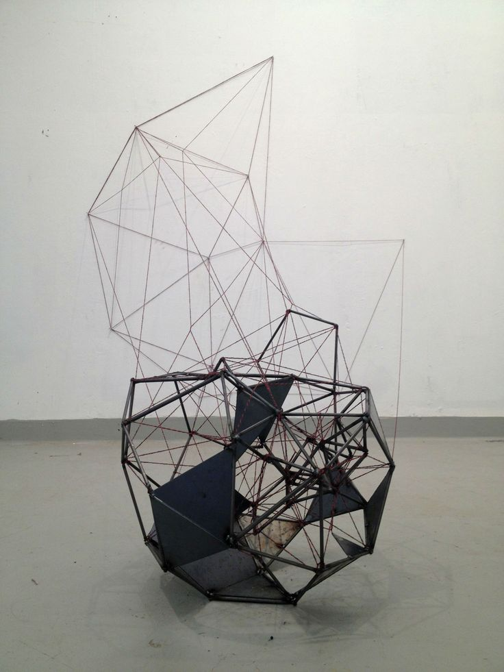 Geometrical Sculpture - interesting how something solid turns into something fragile and airy