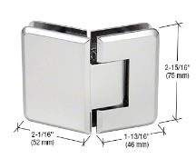 TR1045CH - CRL Chrome Trianon 045 Series 135 Degree Glass-to-Glass Hinge