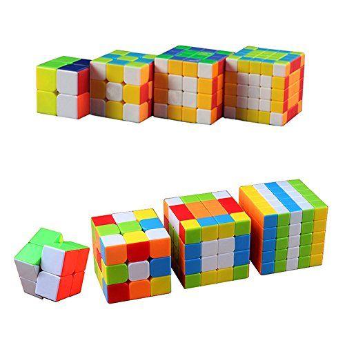4 pack magic cube set of 2x2 3x3 4x4 5x5 rubik 39 s cube puzzle pack items pinterest 4x4. Black Bedroom Furniture Sets. Home Design Ideas