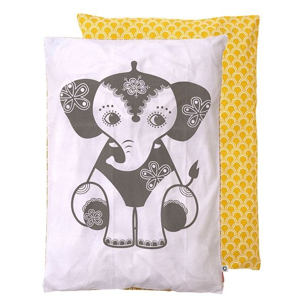 Bettwäsche SoulMate Elefant ocker/grau von roommate Baby 70 x 100