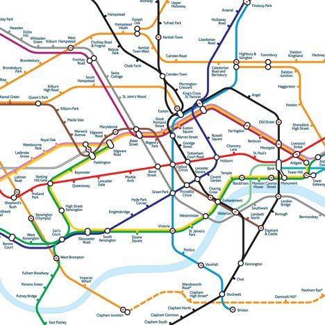 how the london tube map should really look