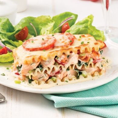 Lasagne aux deux saumons et légumes - Recettes - Cuisine et nutrition - Pratico Pratique