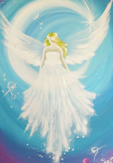 "Limited angel art photo ""cosmic guardian angel"" , modern angel painting, artwork, picture frame, gift,"