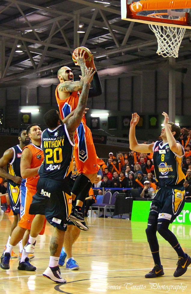 Another Shark attack - this time from Southland Sharks' Leon Henry. Stadium Southland, June 21, 2013. Southland Sharks v Otago Nuggets. Southland Sharks 115 - 67 Otago Nuggets.