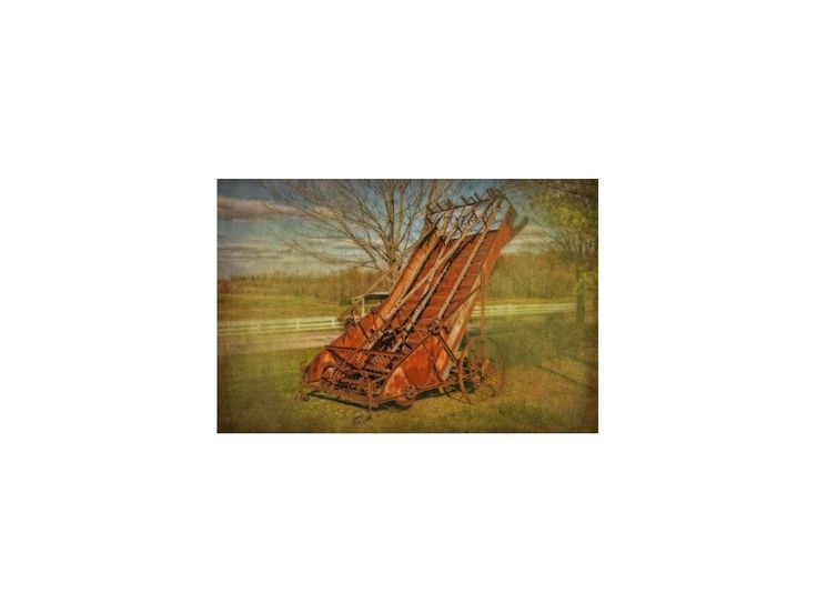 Elevated Hay Rake - Vintage Farm Machine - Agricultural Photograph - Home Decor - Wall Art