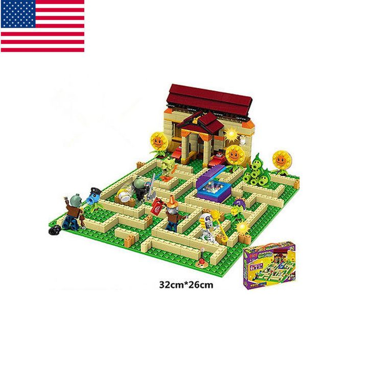 Bricks Toys Plants vs Zombies Garden maze DIY Toys for Kids Building Blocks Game | Toys & Hobbies, Action Figures, TV, Movie & Video Games | eBay!