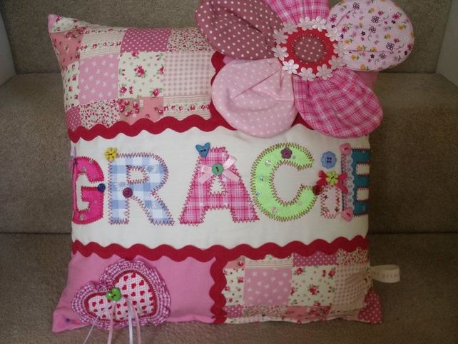 Handmade personalised cushion - Folksy