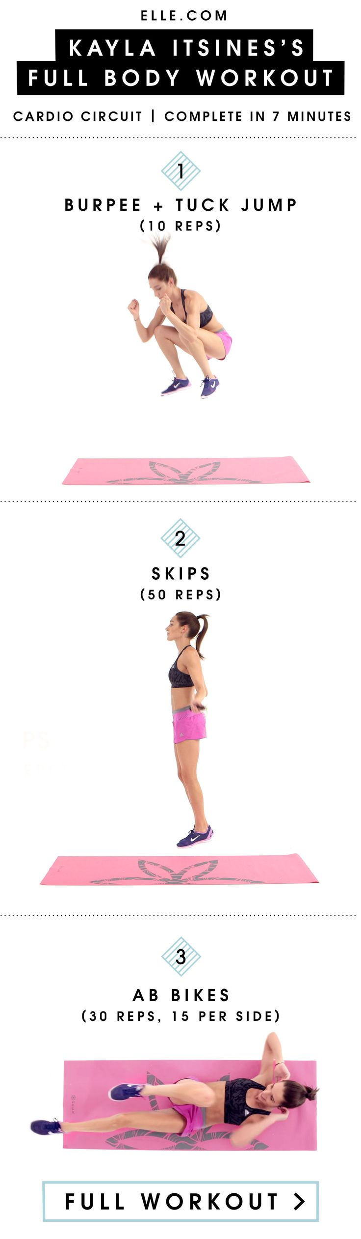 Kick Off Your 2016 Fitness Goals with Kayla Itsines' New 7-Minute, Whole-Body Workout  - ELLE.com
