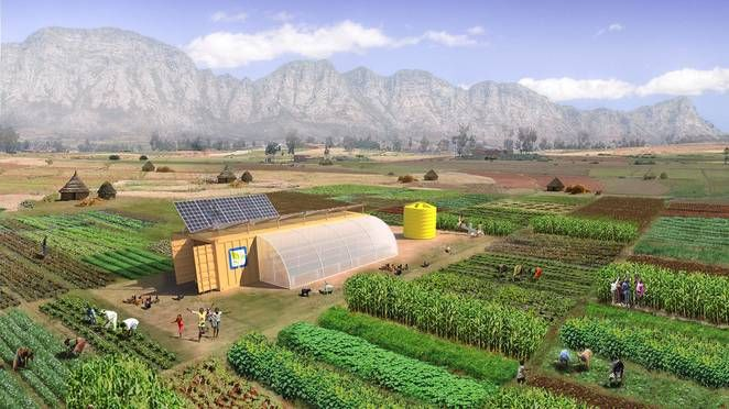 The Farm From A Box system is designed to feed 150 people per year, and includes drip irrigation, all of the tools, and its own renewable energy setup.  This plug-and-play farming system combines water-smart irrigation, renewable energy, and precision farming technology in a single shipping container that is said to be capable of supporting the cultivation of almost two and a half acres, using regenerative agriculture practices.  We've covered a few different approaches to the 'farm in a…