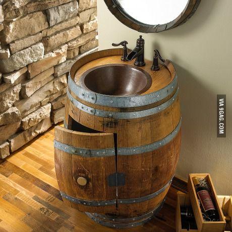 1000 images about whiskey barrel sinks on pinterest for Whiskey barrel bathtub