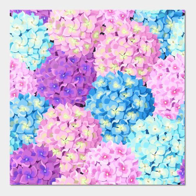Image by Shutterstock Beautiful Blue Hydrangea Flowers Women/'s Tee