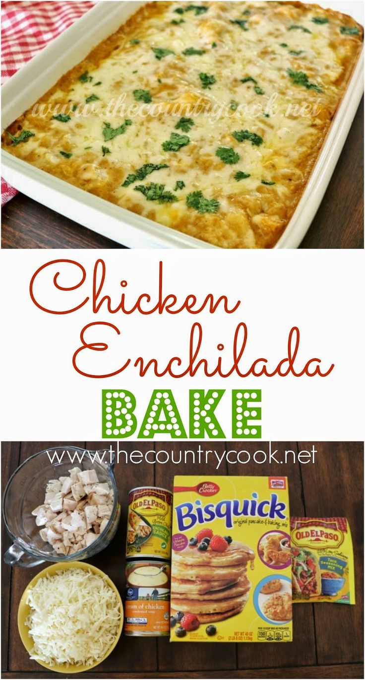 Chicken Enchilada Bake Bisquick Enchilada Bake Dinner Supper Easy