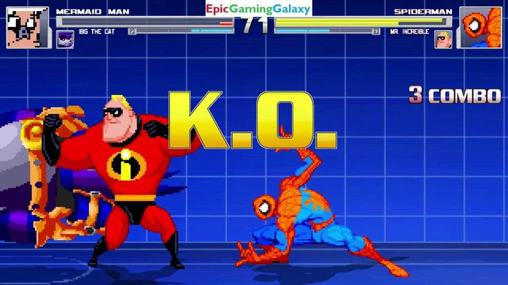 Spider-Man And Mr. Incredible VS Mermaid Man And Big The Cat In A MUGEN Match / Battle / Fight This video showcases Gameplay of Spider-Man The Superhero And Mr. Incredible From The Incredibles VS Mermaid Man From The SpongeBob SquarePants Series And Big The Cat From The Sonic The Hedgehog Series In A MUGEN Match / Battle / Fight