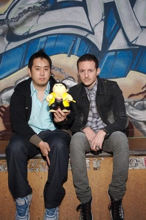 Joe Hahn and Chester Bennington Linkin Park