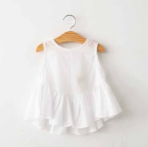 Simple #white and sweet this piece. A must-have to pair with any of our bottoms or #outerwear pieces. #girls modernechild.com