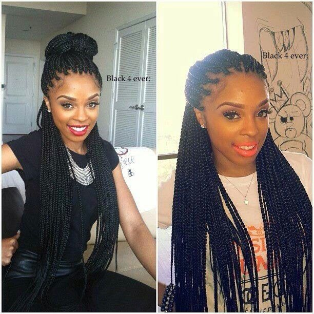 ❤ i don't care for braids but these are cute BOX BRAIDS-Protective Styling