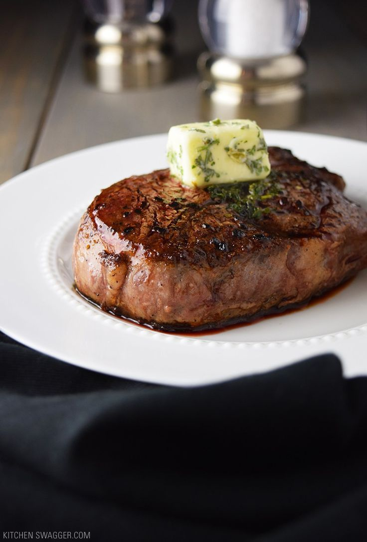 NEVER grill again. Pan-seared filet mignon with garlic and herb butter recipe.
